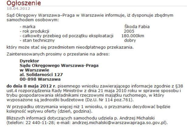Ogłoszenie warszawapraga.so.gov.pl