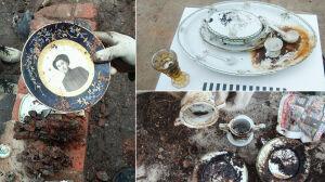 Budynki obrócono w pył. Porcelana i kryształy przetrwały