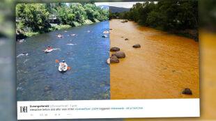 Pomarańczowe i toksyczne rzeki w Kolorado