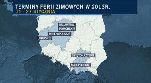 Kalendarz ferii zimowych (TVN24)