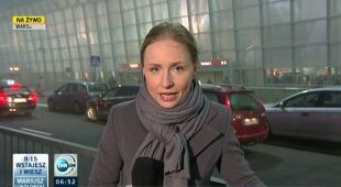 Sytuacja na Lotnisku Chopina w Warszawie (TVN24)
